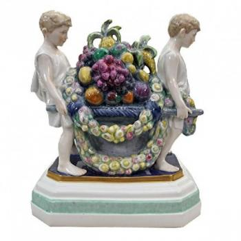 Porcelain Group of Figures - glazed porcelain, painted porcelain - Volkstedt - 1920