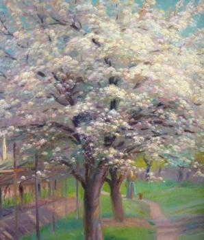 R. Wolf - The path in blossoming orchard