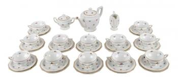 Tea Set - white porcelain - 1930
