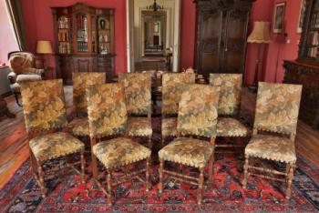 Chair Sets - solid oak - 1950