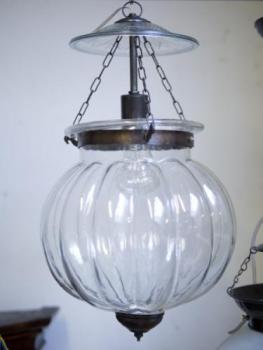 Lamp - brass, clear glass - 1930
