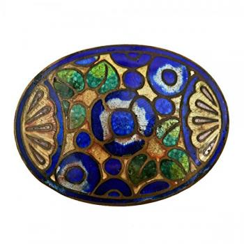 Brooch - enamel, metal - 1935