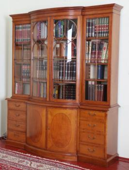 Bookcase with Glazed Doors - wood, solid wood - 1950