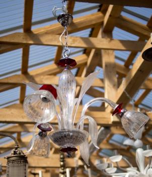 Chandelier - glass - 1960