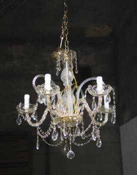 Chandelier - glass - Murano - 1970
