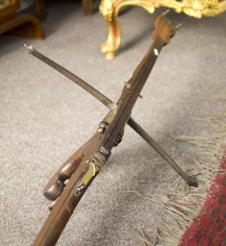 Crossbow - wood, metal - 1850