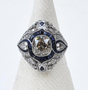Platinum Ring - platinum, diamond - 1950