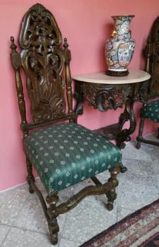 Six Chairs - solid beech - 1880