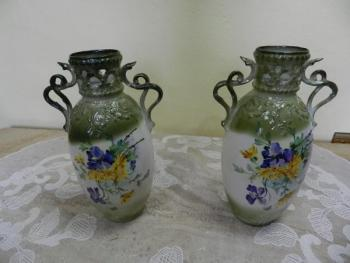 Pair of Porcelain Vases - white porcelain - 1800