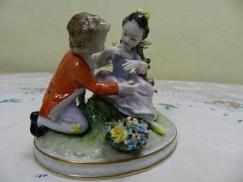 Porcelain Figurine - white porcelain - Unterweissbach Germany - 1920