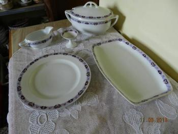 Porcelain Dish Set - white porcelain - 1930