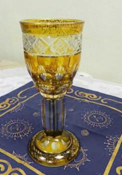 Glass Goblet - clear glass - 1880