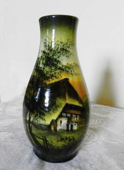 Vase from Porcelain - majolica - 1930