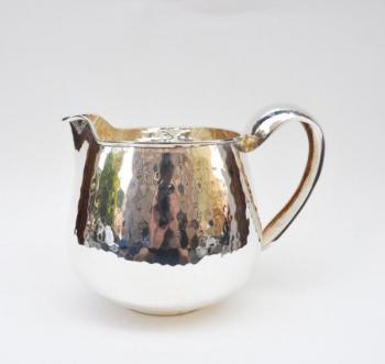 Small teapot - hammered silver - 1950
