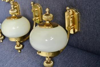 Wall Lamp - brass, glass - 1970