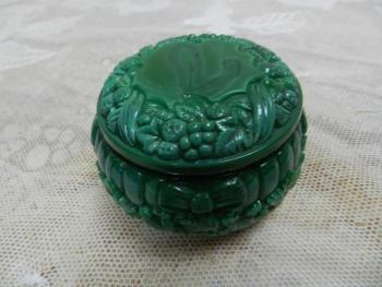 Glass Jar - Malachite - 1950