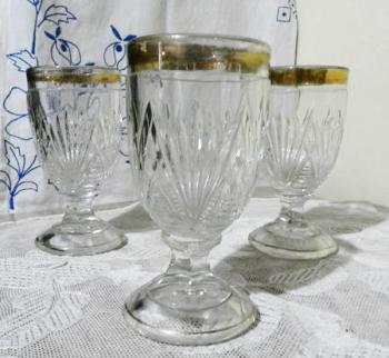 Glasses - clear glass - 1930