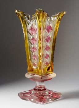 Vase - clear glass - Friedrich Egermann, North Bohemia - 1840