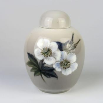 Porcelain Vase with Lid - white porcelain - 1960