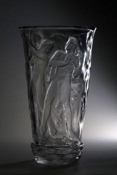 Vase - clear glass - 1950