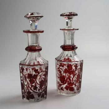 Glass Set - clear glass - 1850