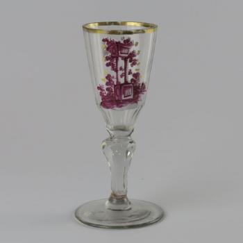 Glass Goblet - clear glass - Harrachov Bohemia - 1770