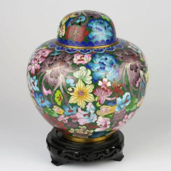 Jar - wood, enamel - 1930