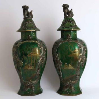 Pair of Vases - ceramics - 1750