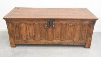 Chest - solid oak - 1890