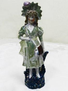 Porcelain Figurine - white porcelain - 1950