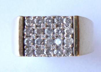 Gold ring with brilliants - 1,1 ct