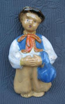 Ceramic Figurine - Child - 1950
