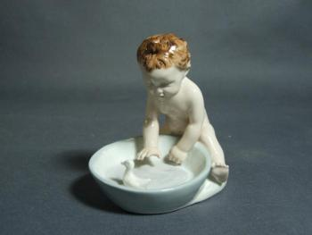 Porcelain Boy Figurine - porcelain - 1930