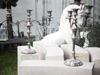 Pair of Candelabra - alpaca - 1930