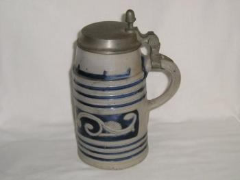 Beer Mug with Tin Lid - 1840