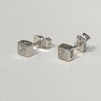 White Gold Earrings - 2000