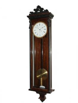 Pendulum Clock - walnut wood - Elsner & Petrowits in Wien - 1840