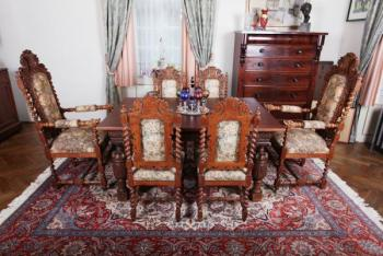 Chair Sets - solid oak - 1890