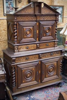 Cabinet - wood, brass - 1800