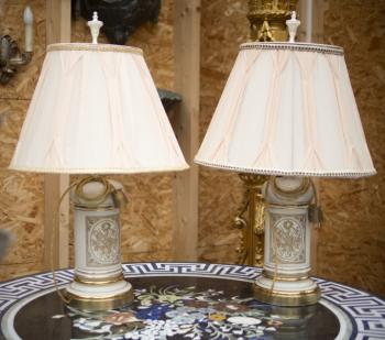 Pair of Lamps - porcelain - 1930