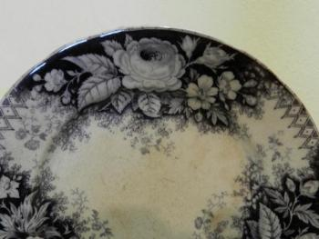 Decorative Plate - white porcelain - 1930