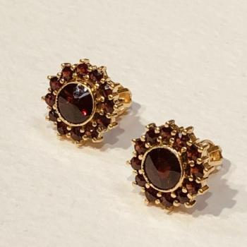 Earrings with Garnets - 1940