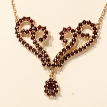Czech Garnet Necklace - 1940