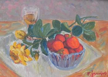 Still Life with Fruit - František Šnajdr (1914 - 2001) - 1970