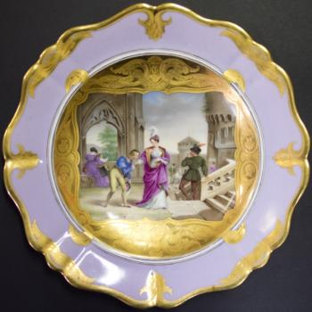 Decorative Plate - porcelain - Wien - 1840