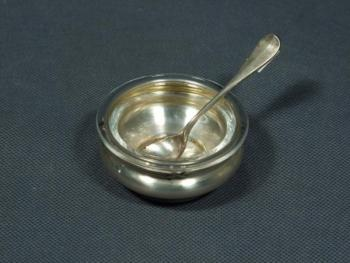 Silver Salt Cellar - glass, silver - 1920