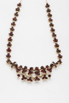 Czech Garnet Necklace - 1910