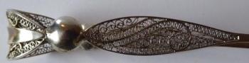 Sugar tongs, decorated with filigree