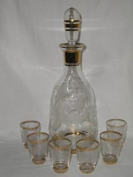 Carafe with Pouring Glasses - 1960