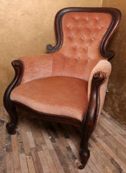 Carved Armchair - solid wood, fabric - 1840